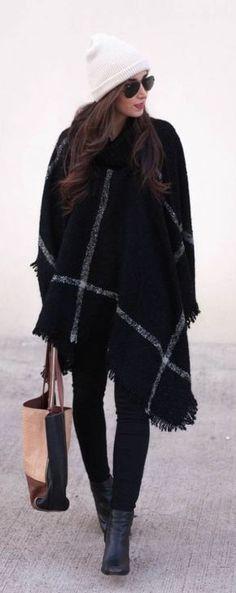 #winter #fashion / tartán + flecos