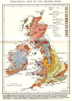 """uk geological map - """"Geological Map of the British Isles"""""""