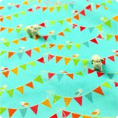 Buy cotton fabric - blue Birds Fat Quarter FQ £3.25 | My Fabric House