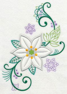 Vintage Embroidery Patterns Machine Embroidery Designs at Embroidery Library! - New This Week Flower Embroidery Designs, Learn Embroidery, Free Machine Embroidery Designs, Crewel Embroidery, Vintage Embroidery, Embroidery Ideas, Embroidery Thread, Hand Embroidery Tutorial, Embroidery Transfers