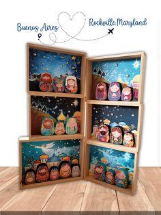 Nativity, Celebrations, Frame, Modern, Diy, Home Decor, Paper Mache, Christmas Art, Nativity Sets