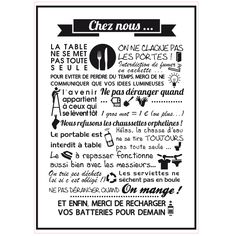 STICKER CHEZ NOUS Repositionnable (I0152) Gris 600x845mm