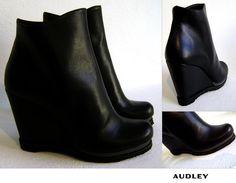 AUDLEY Shoes ♥ ♥ ♥ Audley= design, tendenza avanguardista e comodità!    // Approfondisci e Acquista ONLINE a questo link:  http://www.cleofeshop.com/it/catalogo/details/5166/8/women/scarpe-e-accessori/audley-shoes---scarpa-zeppa-grisel-black-salvage