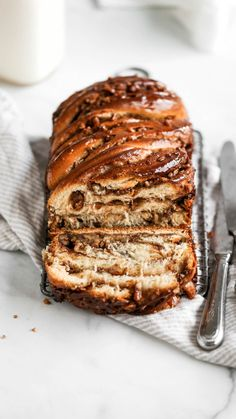 Pecan Pie Babka This babka recipe is filled with pecans, brown sugar, and cinnamon. It's the perfect Thanksgiving dessert recipe that everyone will love! Bread Recipes, Baking Recipes, Pecan Recipes, Baking Desserts, Pumpkin Recipes, Best Pecan Pie Recipe, Best Cinnamon Babka Recipe, Dessert Crepes, Sweet Bread