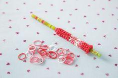 Rainbow Loom® Valentine's Pencil Favor
