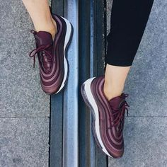 Burgundy obsession | Nike Air Max 97 ultra by @v.gmzc . . . #gomf #girlsonmyfeet