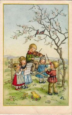 Vintage Art with Children Clip Art Vintage, Vintage Paper Dolls, Vintage Ephemera, Vintage Pictures, Vintage Images, Cute Pictures, Vintage Greeting Cards, Vintage Christmas Cards, Vintage Children