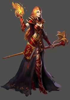 Fire mage by Beaver-Skin on DeviantArt