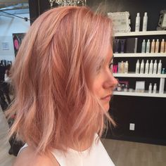 My rose gold hair from Mallory @ M Studios!!!