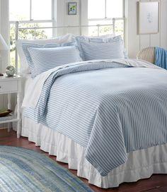 Premium Supima Flannel Comforter Cover, Stripe: Comforter Covers   Free Shipping at L.L.Bean