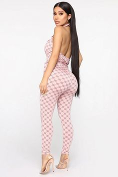 New Lovin' Printed Jumpsuit - Pink/combo – Fashion Nova Backless Jumpsuit, Pink Jumpsuit, Printed Jumpsuit, Strapless Jumpsuit, Floral Jumpsuit, Denim Jumpsuit, Floral Romper, Curvy Girl Outfits, Sexy Outfits