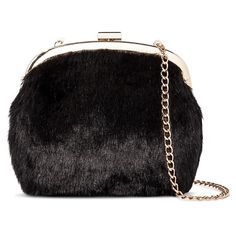 Women's Fur Mini Bag Black - Who What Wear ™ : Target