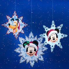 Mickey & Friends Christmas Snowflakes