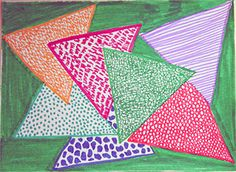 Third Grade Art Lesson 3 | Overlapping Shapes Working with Texture and Pattern