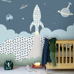 Hey everyone ! What do you think of Inke Heiland's new Rocket murals? We love them !! Available in 3 colour combinations Check them out at @inke_heiland #kidsinteriors_com - - - - @jutenjuul #kidsinteriors #kidsinterior #kidsroom #childrensroom #kidswalldecals #kidswallpaper #childrenswallpaper #kidsdecor #decorforkids #kidsdesign #designforkids #nurseryinspo #barnrum #chambreenfant #chambrebebe #barnerom #kinderkamer #kinderzimmer