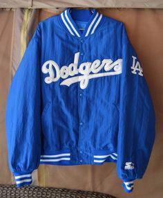 Rare Vintage 80s 90s Starter Diamond Co Los Angeles Dodgers Jacket Men XL VTG #Starter #LosAngelesDodgers