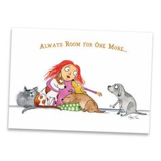 My mini art prints offer beautiful reproductions of my original pen & ink/watercolor drawings. Size: x Printed on premium bright-white recycled paper. Printed on both sides. Comes packaged in an archival sleeve with sturdy chipboard backing Dog Quotes, Animal Quotes, I Love Dogs, Puppy Love, Baby Animals, Cute Animals, Dog Day Afternoon, Crazy Dog Lady, Dog Illustration
