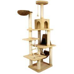 "Armarkat 78"" Ultra-Soft Premium Cat Tree in Golden Rod"