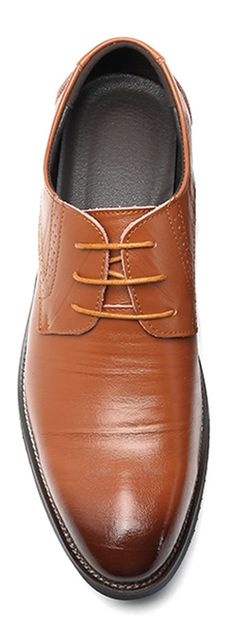 Men Comfortable Genuine Leather Brogue Style Business Formal Shoes