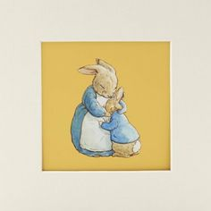 Nursery room art. Beatrix Potter's Mother and Peter (Mounted Print)
