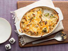 Cheesy Mushroom and Broccoli Casserole recipe from Sunny Anderson via Food Network