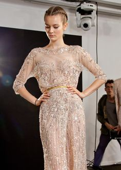 Elie Saab Fall/Winter 2012 Haute Couture Collection - Backstage