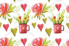 Valentine`s Day seamless patterns by Olesya Morokhovets on @creativemarket