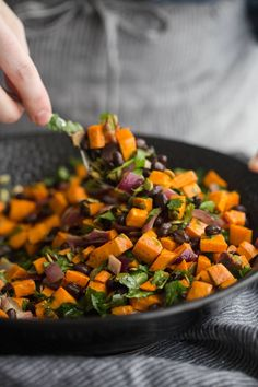 Black Bean Salad with Roasted Sweet Potato