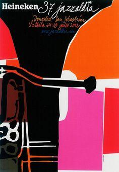 San Sebastian's Jazz Festival poster 2002