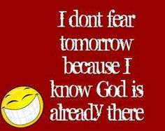 God is good! Everytime im think of God i get warm fuzzies all over and that is often!