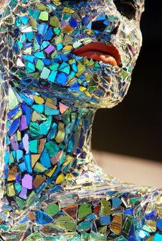 ART ON F1RST: Detail of an art installation by Gordon Huether.