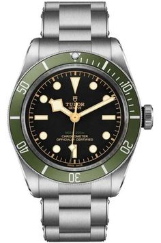 Tudor Black Bay Green for Harrods Special Edition Tudor Heritage Black Bay, Tudor Black Bay, Best Looking Watches, Cool Watches, Unique Watches, Dream Watches, Mens Designer Watches, Luxury Watches For Men, Fossil Watches