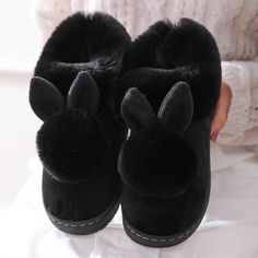 800+Sold, Hot Sales!! The adorable bunny ears combined with ultra-soft plush fuzziness makes these slippers the ultimate go-to this winter! Cozy and cute, you'll never want to take these off as you Netflix n' chill! Get yours Before its SOLD OUT! Enjoy this New Year with Neulons.com Grab this OFFER Now!! Fluffy Rabbit, Fluffy Bunny, Bunny Plush, Rabbit Ears, Best Slippers, Bunny Slippers, Winter Slippers, Black Slippers, New Fashion