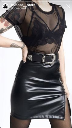Leather Skirt, Skirts, Tops, Women, Fashion, Urban, Style, Moda, Skirt