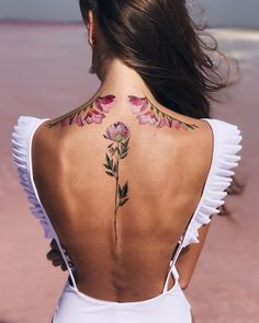 floral temporary tattoos by @pissaro_tattoo