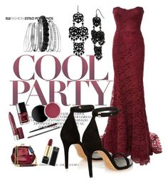 Burgundy dream by fabulousforties on Polyvore featuring polyvore moda style Monique Lhuillier Isabel Marant Avenue Betsey Johnson