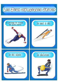 One-click print document 2018 Winter Olympics, French Resources, Winter Activities, French Language, Olympic Sports, Winter Games, Winter Olympics, Skating, Athlete