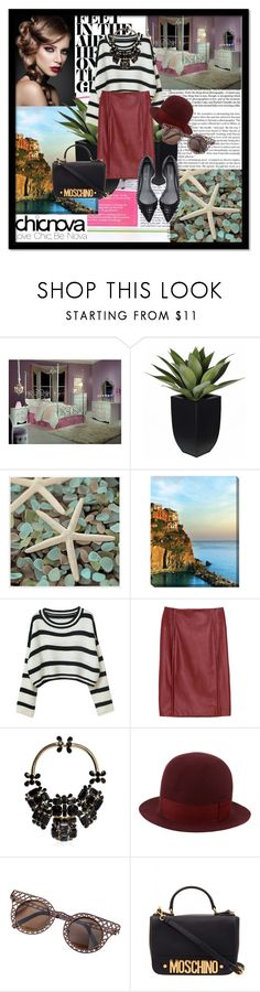 """""""chicnova #7"""" by dinna-mehic ❤ liked on Polyvore featuring Universal Lighting and Decor, Grandin Road, Chicnova Fashion, Dsquared2, Undercover, Moschino and chicnova"""