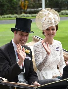 Pin for Later: Prince William and Kate Middleton's Year in Pictures  The pair waved to the crowd at the Royal Ascot at Ascot Racecourse in June.