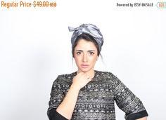 on sale free shipping - silver knit turban, turban hat, fashion turban, turban hijab, chemo cap, women's turban, ready to wear turban, vinta