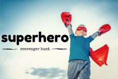 Check out our Superhero Scavenger Hunt courtesy of www.stuminstuff.com! #scavengerhunts #superheroes