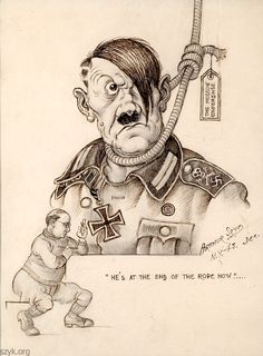 Arthur Szyk, 1943. He's at the End of the Rope Now. Washington, D.C.