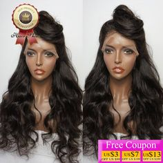 8A Brazilian Virgin Hair Lace Front Wig Body Wave Full Lace Human Hair Wigs For Black Women 130 Density Natural Color U Part Wig