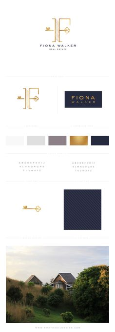 Brand Board by North Sail Design, Custom Logo, Custom Design, Gold, Realtor, Realtor Branding, Blue and Gold, Modern Logo Design