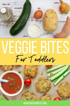 If you're looking to squeeze in more vegetables to your kids meals, these delicious veggie bites are perfect for toddlers and are simple to make! Packed with freshly grated vegetables like sweet potato and courgette, they're shaped into tasty little veggie nuggets making a delicious little meal or side dish for toddlers and kids alike. #veggiebites #veggienuggets #toddlersnacks #vegfortoddlers Toddler Dinner Recipes, Healthy Toddler Meals, Lunch Box Recipes, Toddler Food, Healthy Snacks For Kids, Kids Meals, Healthy Recipes, Baking Recipes For Kids, Baking With Kids