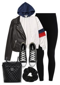 """""""Sin título #14260"""" by vany-alvarado ❤ liked on Polyvore featuring H&M, Converse, Chanel and Miss Selfridge"""