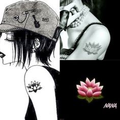 Nana tattoos ren flower black and white or colourful