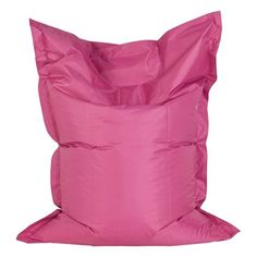 Kendall Pink Large Beanbag in Polyester with PVC coating Pouf Rose, Pouf Design, Large Bean Bags, Kokoon Design, Pvc Coat, Mini Roses, Textiles, Mini S, Backrest Pillow