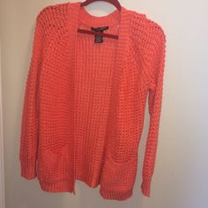 Coral medium sweater two pocket cover up Coral medium sweater cover up 100% cotton tub yarn made in Bangladesh Ashley Premium Sweaters Shrugs & Ponchos