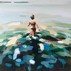 30 x 30 - 3 Elizabeth Lennie Art Inspo, Painting Inspiration, Figure Painting, Painting & Drawing, Lake Painting, Paint Paint, Wal Art, Art Ideas For Teens, Guache